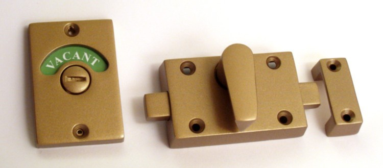 bathroom indicator lock bronze