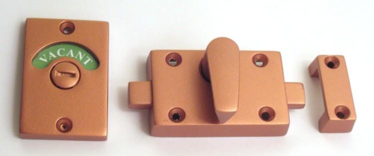 copper bathroom indicator lock