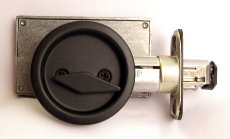 flat black pocket door lock, flat black privacy lock