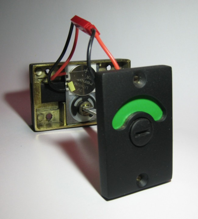 red and green bathroom indicator with led light