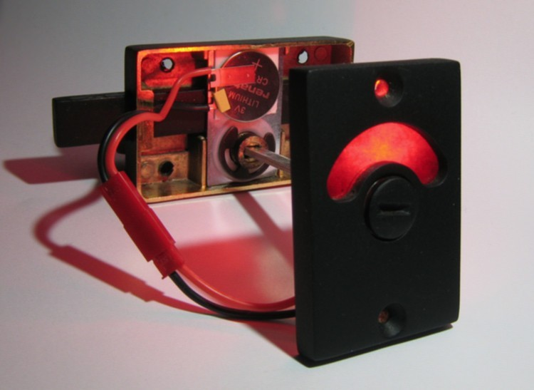 red and green bathroom privacy lock with led, led bathroom indicator lock