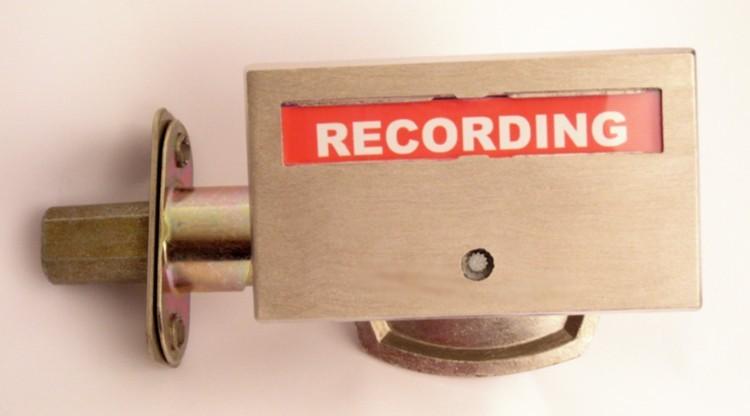 recording indicator, recording studio inidcator lock