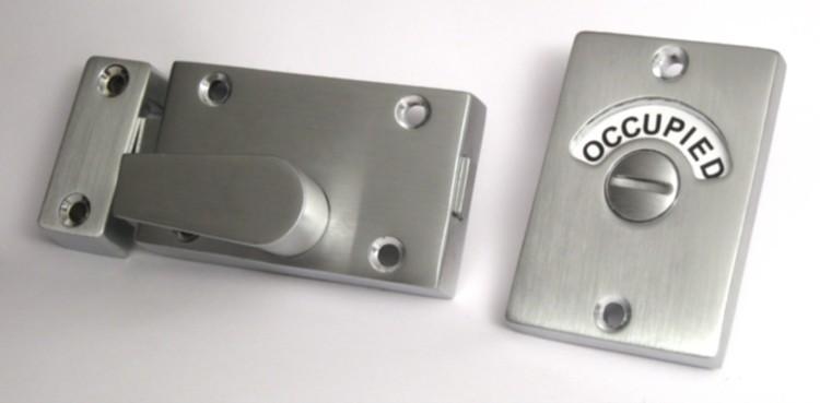 occupancy indicator deadbolt, bathroom indicator lock
