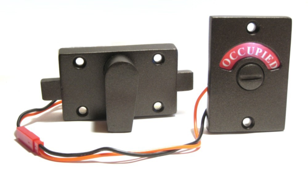 led oil rubbed bronze bathroom indicator, led restroom indicator, led deadbolt lock, oil rubbed bronze occupied lock