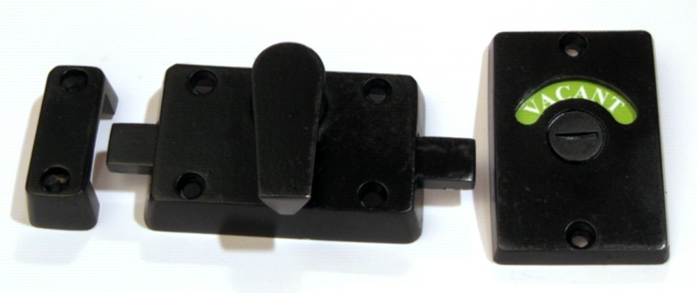 black stainless bathroom door lock
