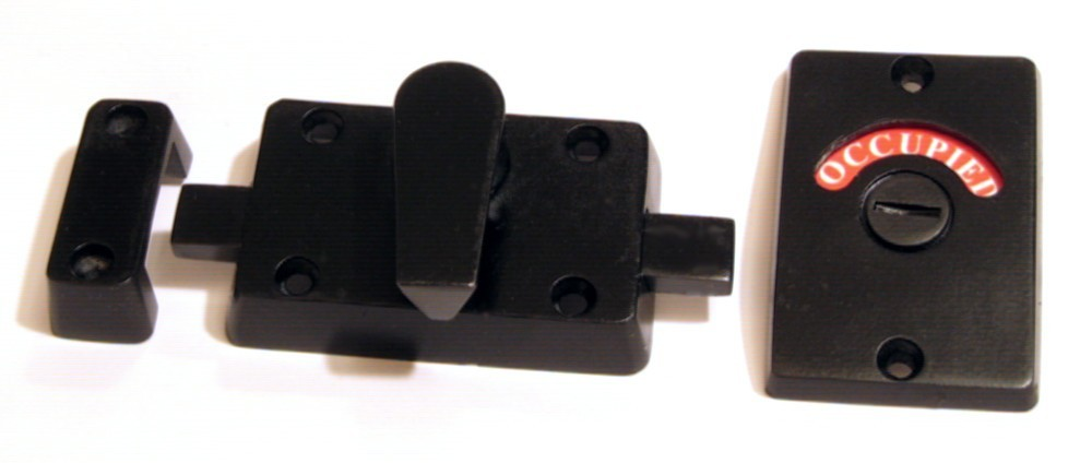 black stainless steel bathroom privacy lock