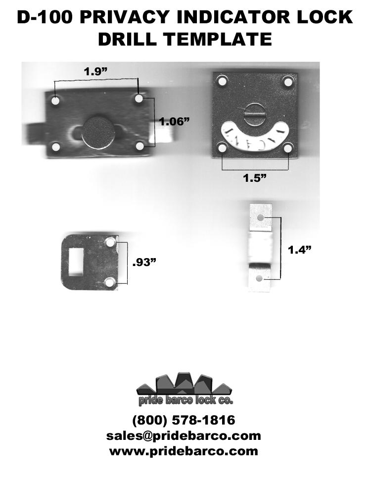 drill template indicator lock, privacy lock dimensions