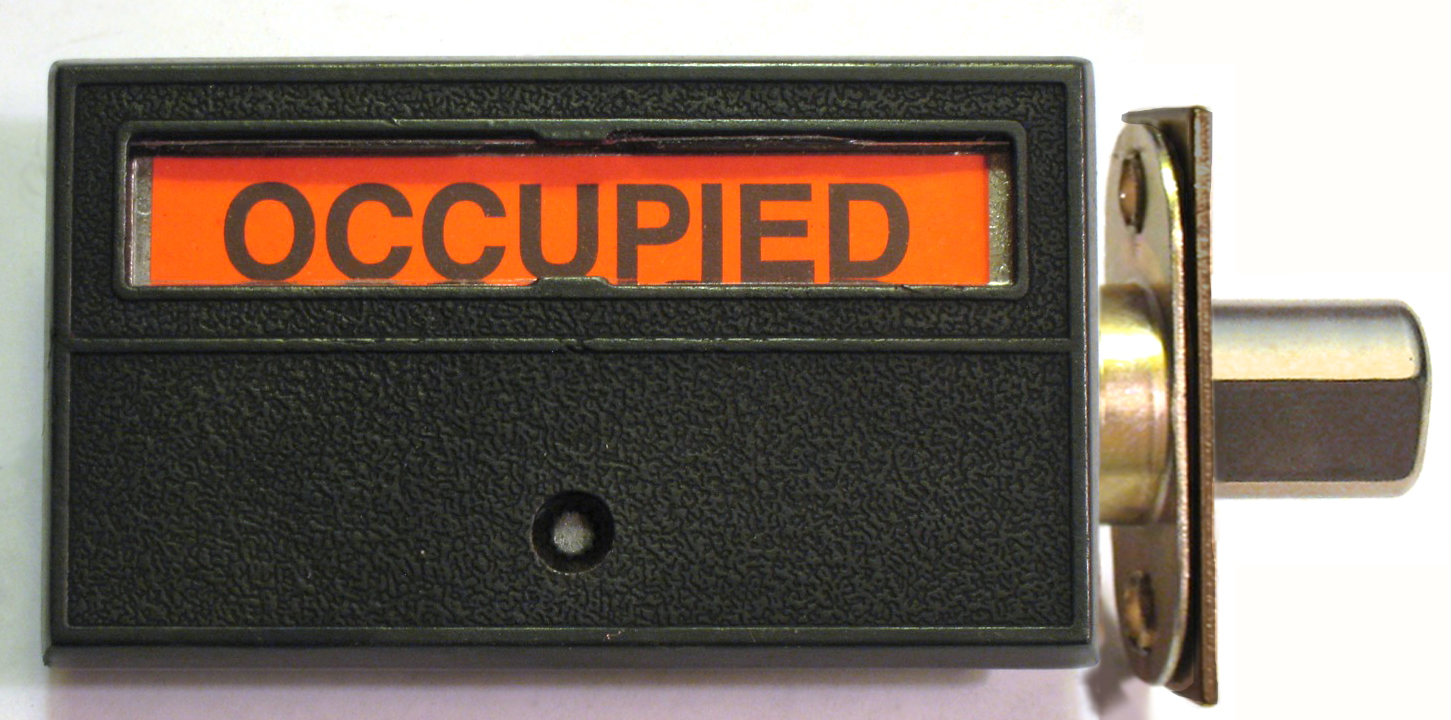 Occupancy Door Lock, Occupied Bathroom Lock, Privacy Indiactor Lock
