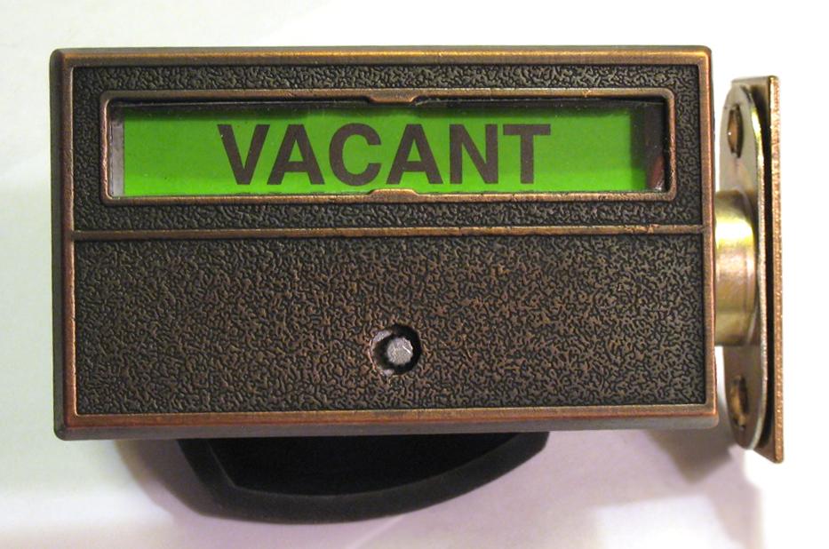 Bronze Indicator Lock, Commercial grade indicator lock, privacy door lock