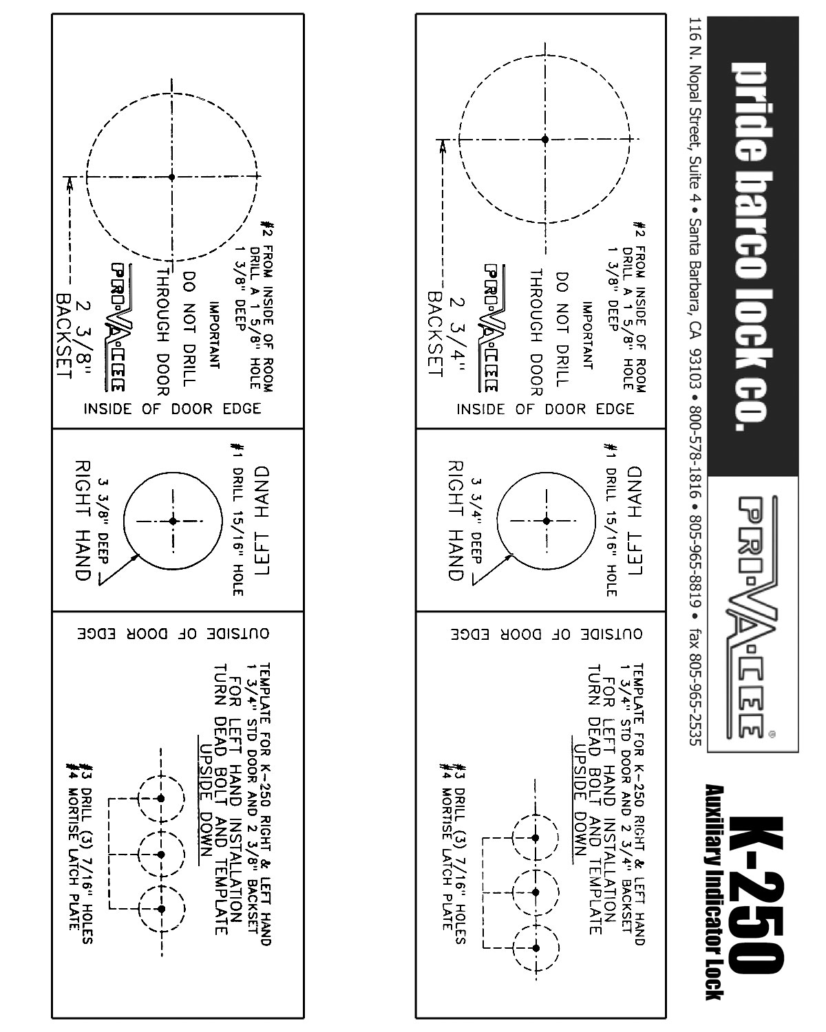 sc 1 st  Pride Barco Lock Co. & DRILL TEMPLATE