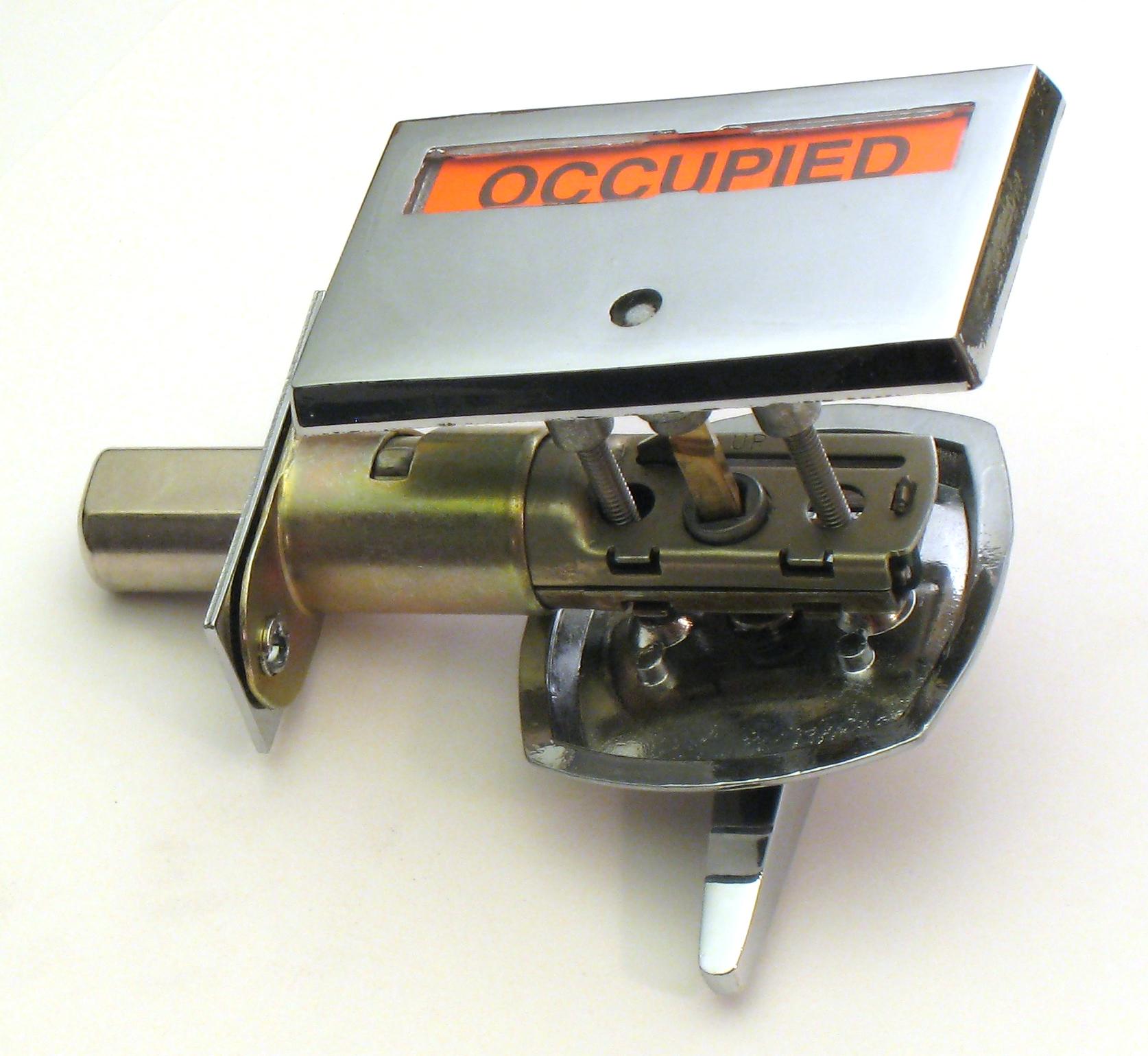 privacy indicator lock, restroom lock, ADA Compliant Indicator lock, occupancy indicator deadbolt