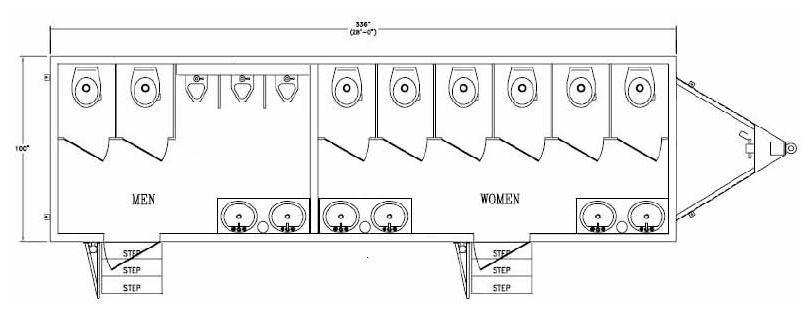 portable restroom, portable restroom indicator lock,