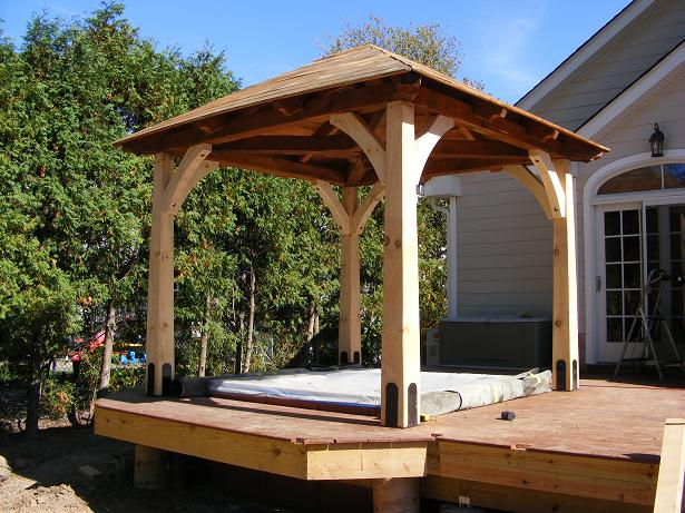 Cecillia landscaping gazebos learn how for Decking framework timber