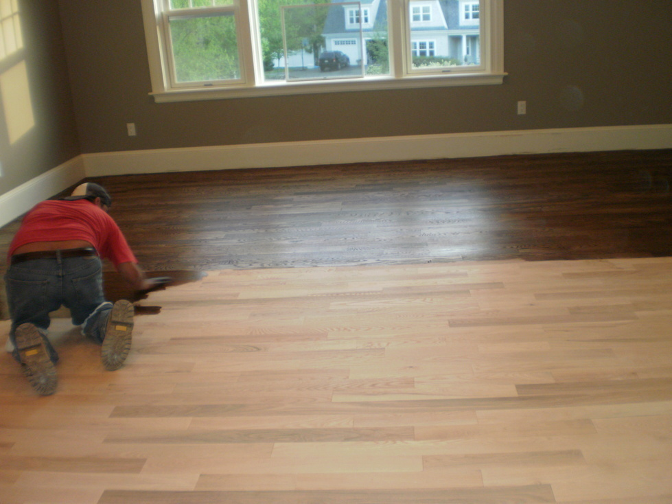 Wood Flooring Refinishing Finishing Ma Staining Wood Flooring