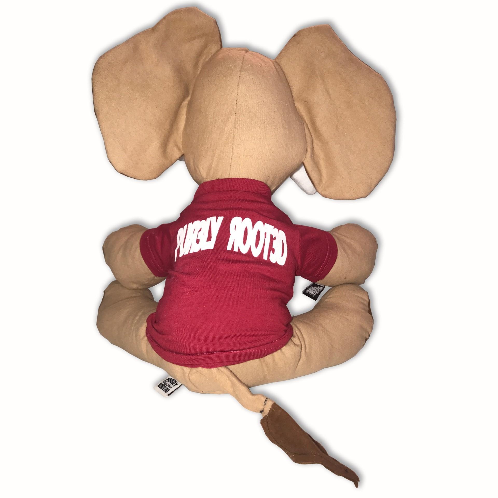 Tusk Mascot Stuffed Elephant Back1