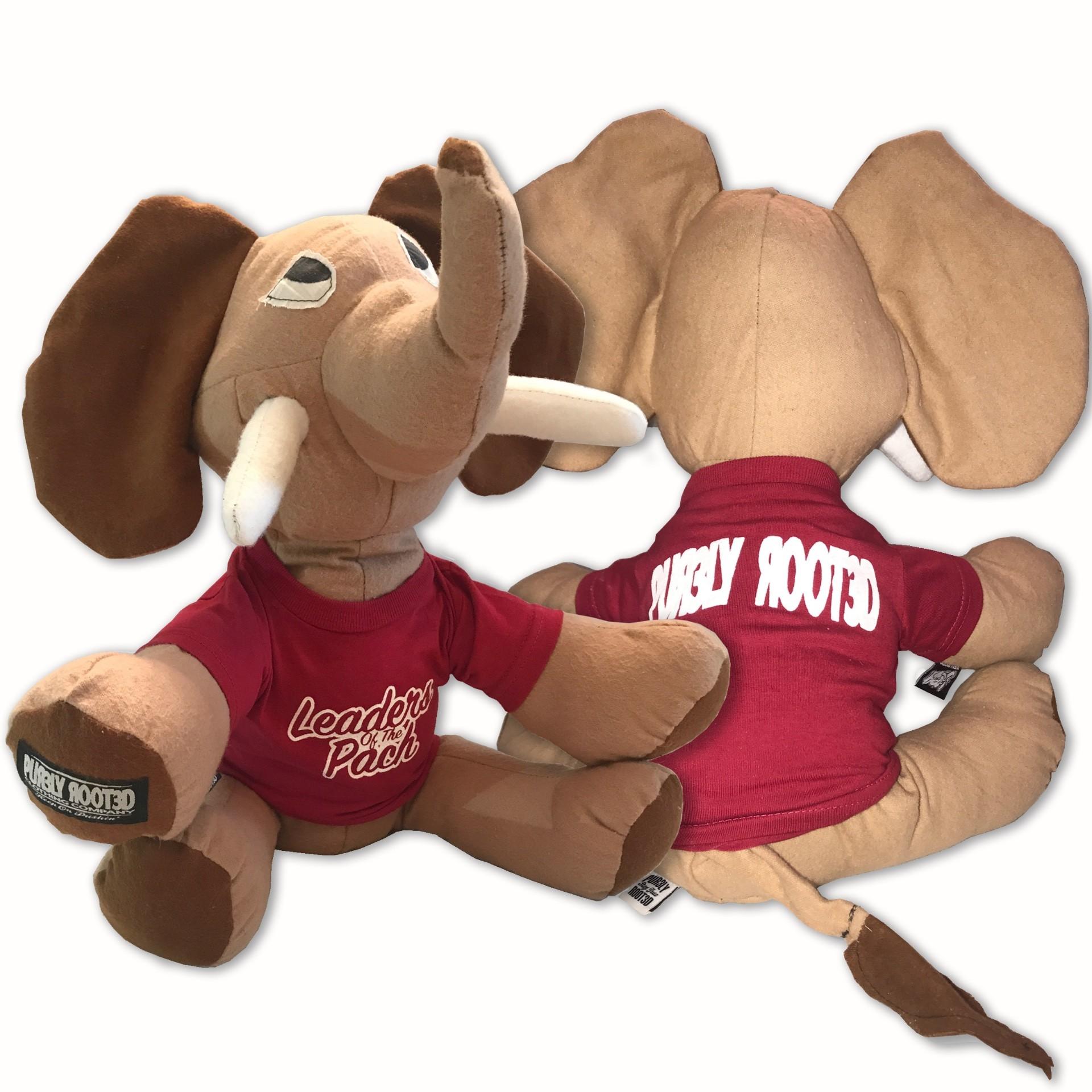 Tusk Mascot Stuffed Elephant Front & Back1