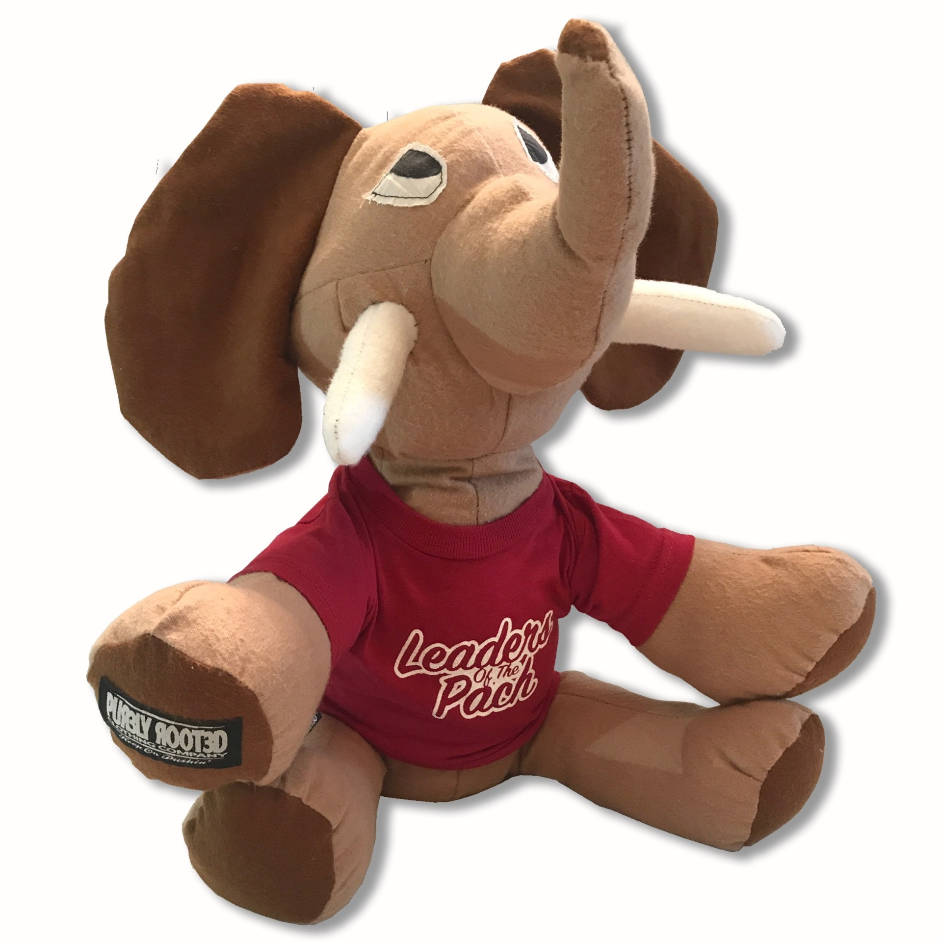 Tusk Mascot Stuffed Elephant Front1
