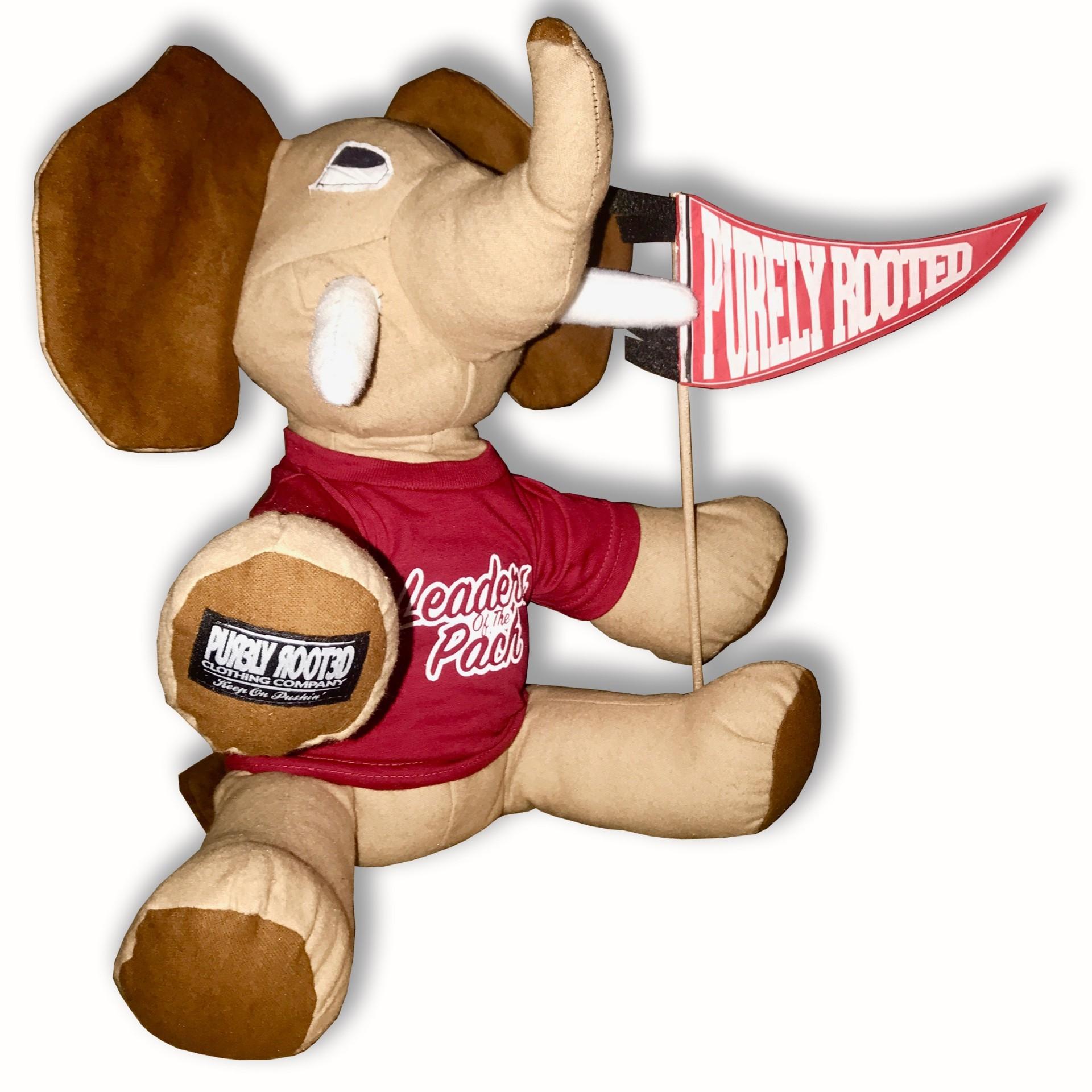Tusk Mascot Stuffed Elephant with Pennant