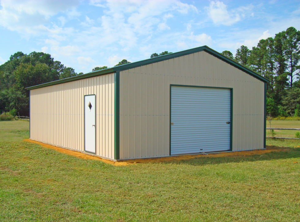Metal Sided Garage