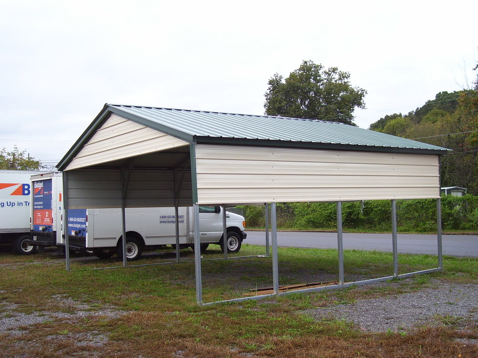 Vertical Roof Style Carports