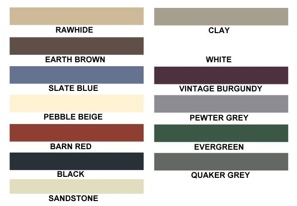 Eagle Carports Direct Color Chart