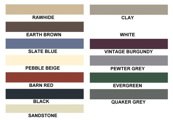 eagle carports direct color chart