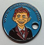 THE MAD MUSEUM PATHTAG GEOCOIN CACHE ALFRED E NEUMAN