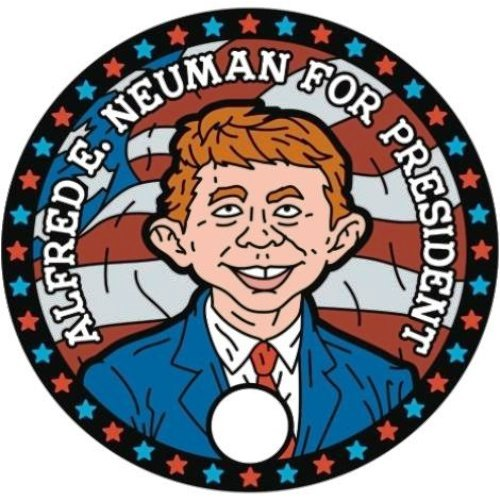 ALFRED E. NEUMAN FOR PRESIDENT VOTE MAD IN 2016 ELECTION MAD MAGAZINE