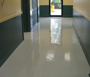 Vct Floor Cleaning Burnishing Waxing