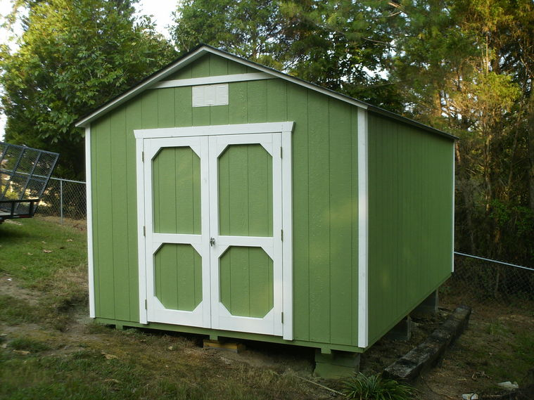Portable storage building shed