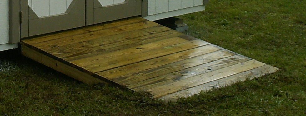 Storage Shed Ramps >> Shed accessories