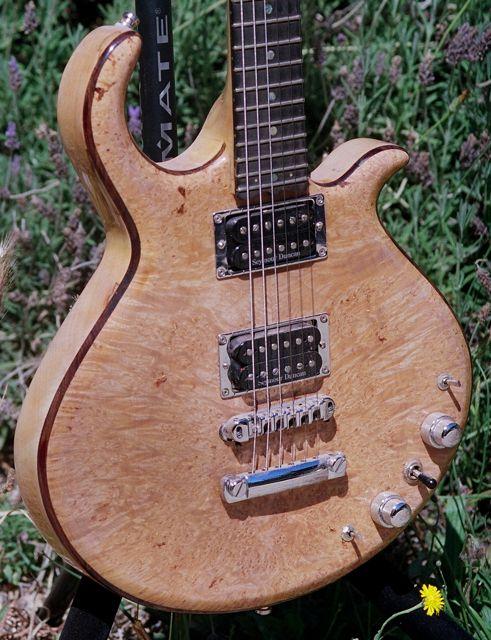 maple burl cap semihollow guitar