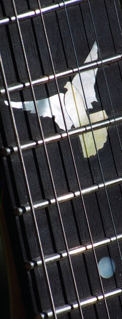 custom MOP inlay handmade electric guitar neck through body