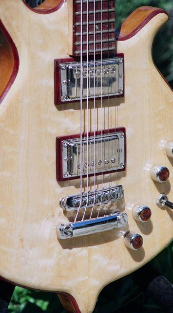 "30"" scale electric baritone guitar maple cap hollowbody"