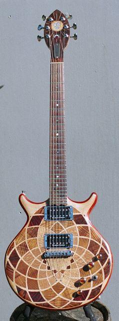handmade electric guitar custom mandala inlay