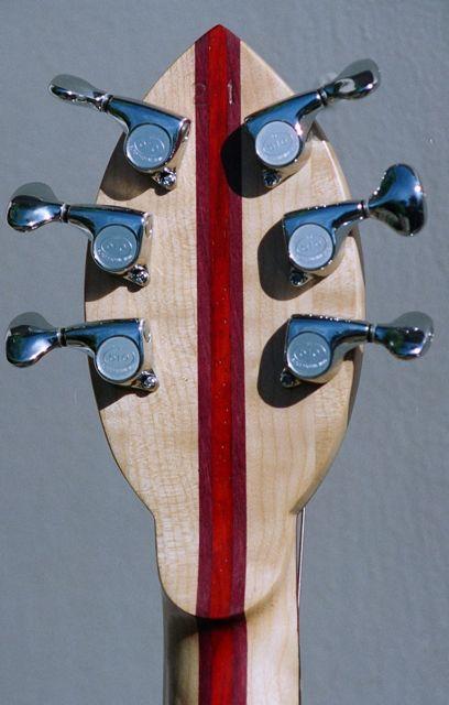 seven piece neck through body handmade electric guitar