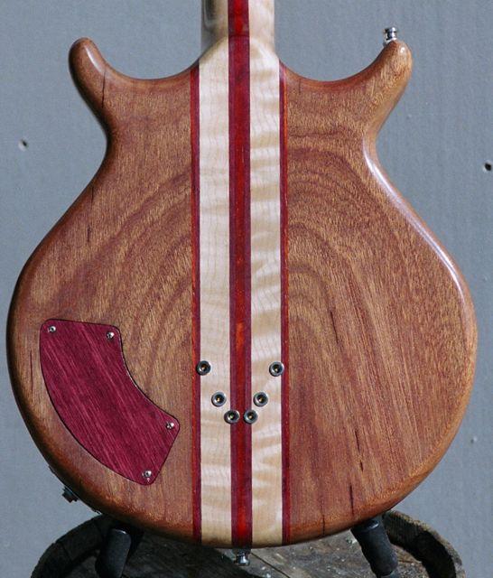 semihollow mahogany body 7 piece neck through