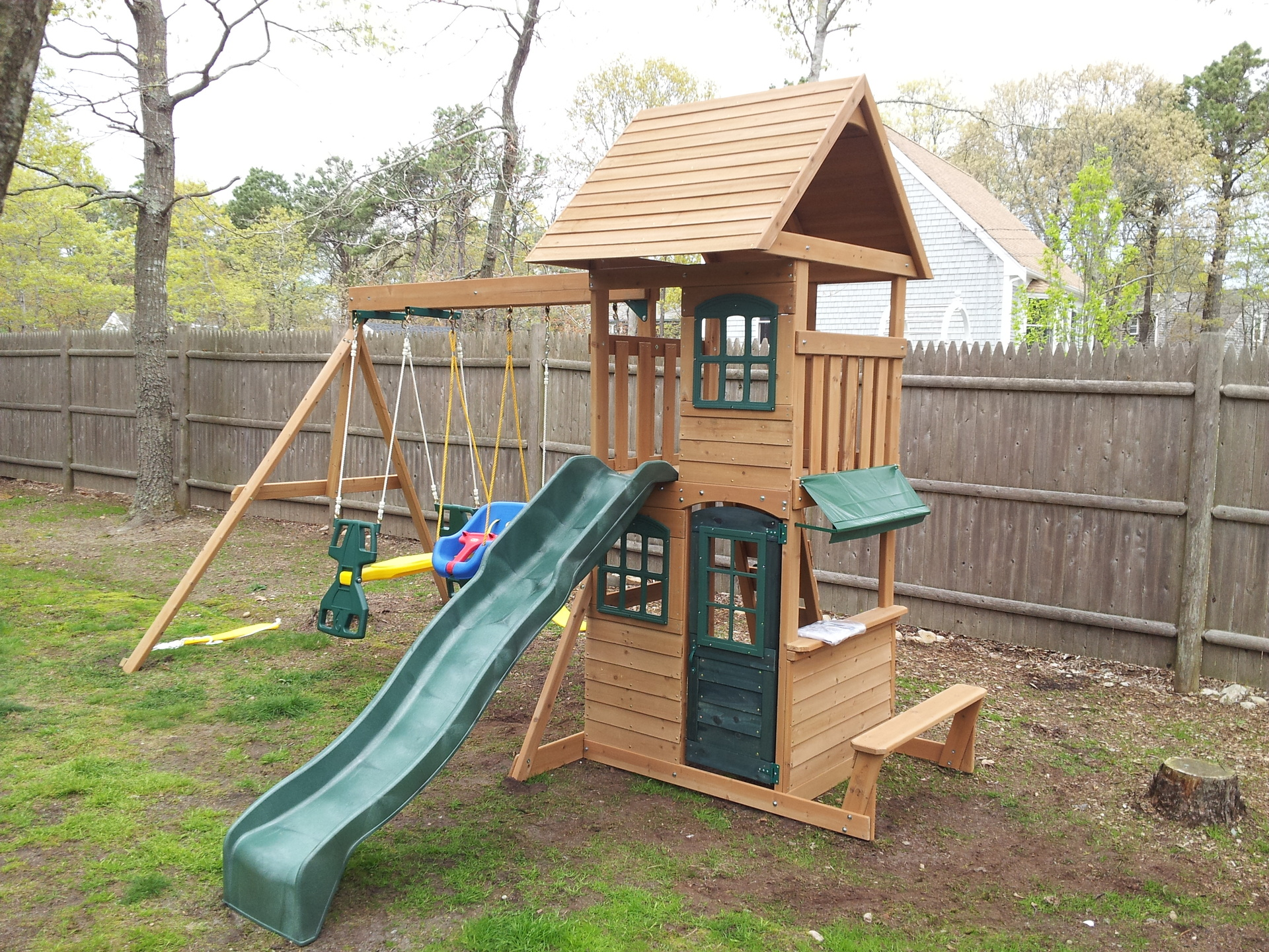 e street assembly big backyard cedar summit built