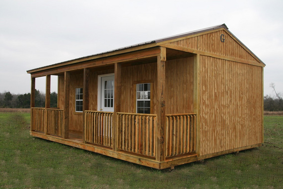 12x40 portable side porch cabin for Side of the house storage shed