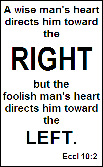 Do you want to be RIGHT...or left?