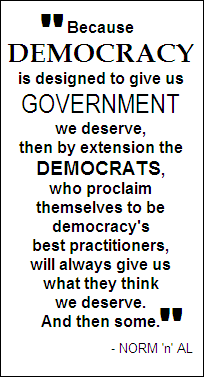 Democrats and democracy...