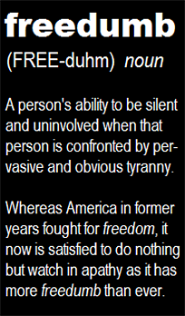 Freedom vs. freedumb...