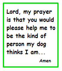 A perfect prayer for most of us...