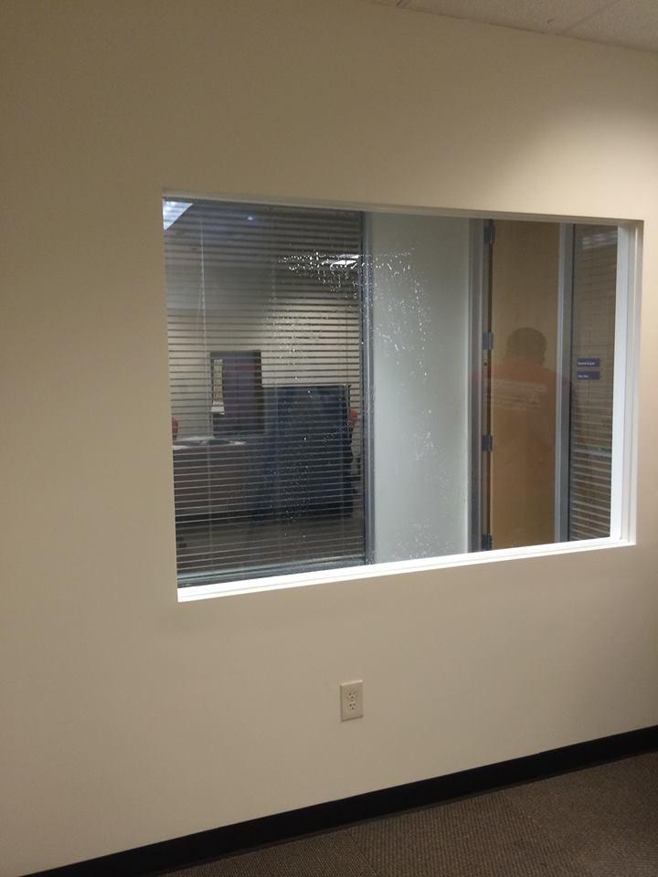 window framed at office