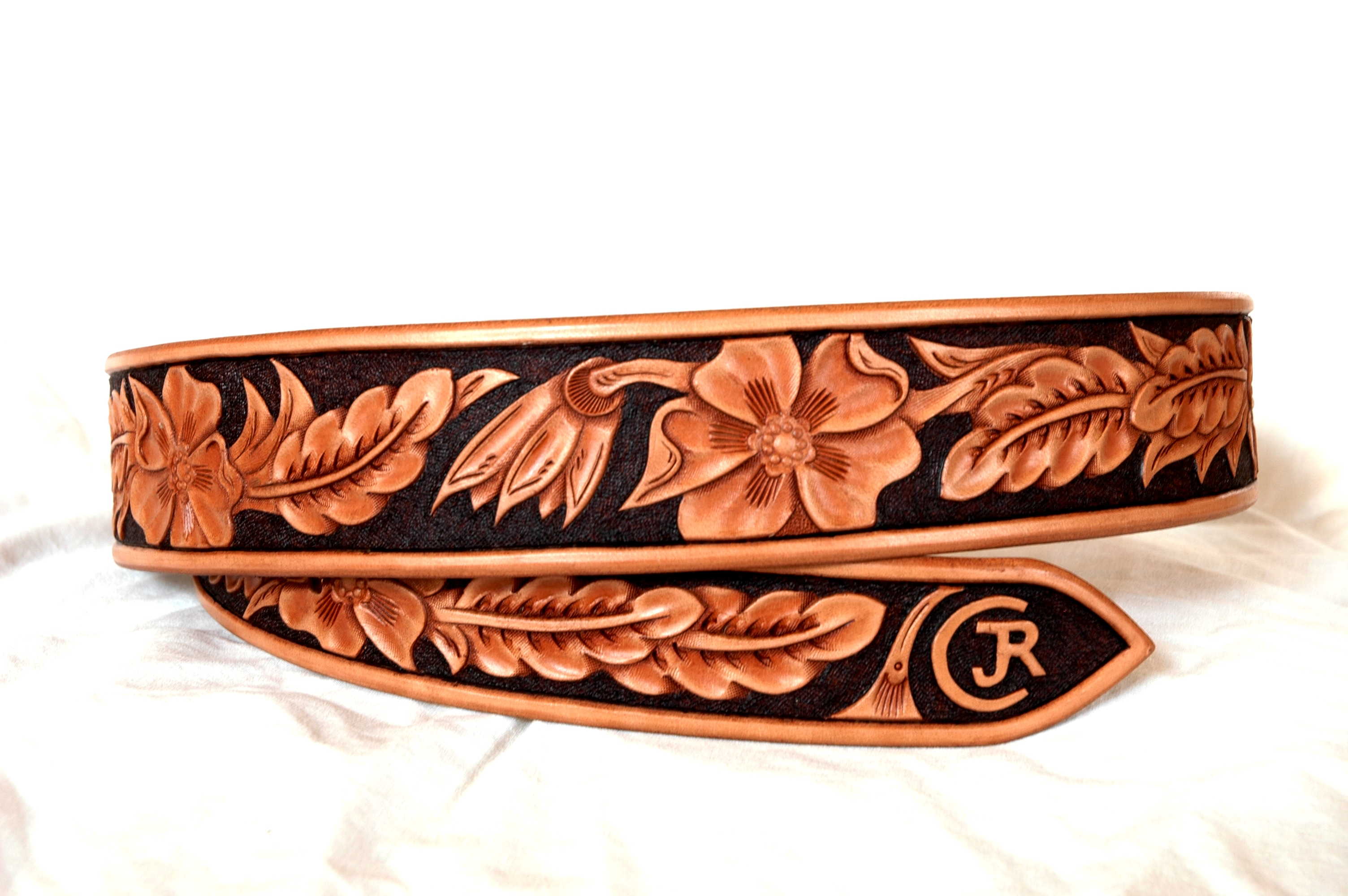 how to make a tooled leather belt