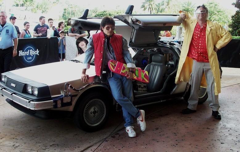 Universal Studios Florida Delorean