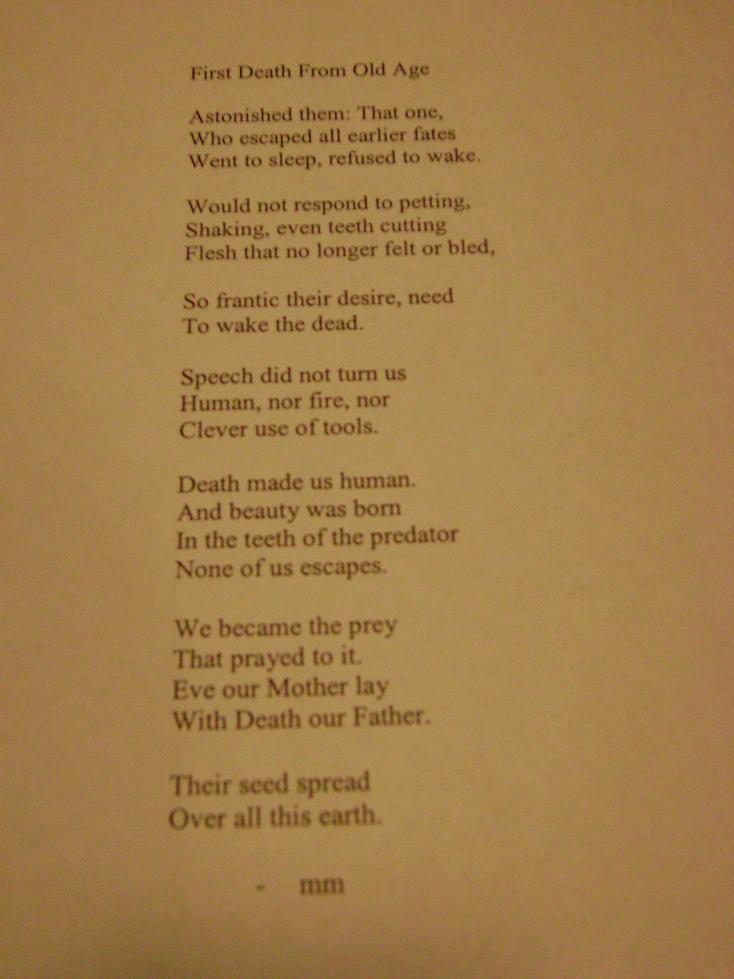 Old Age Poem 88