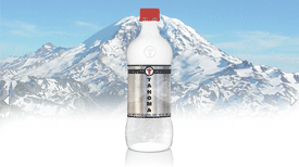 tahoma bottle water - water from north america glacier