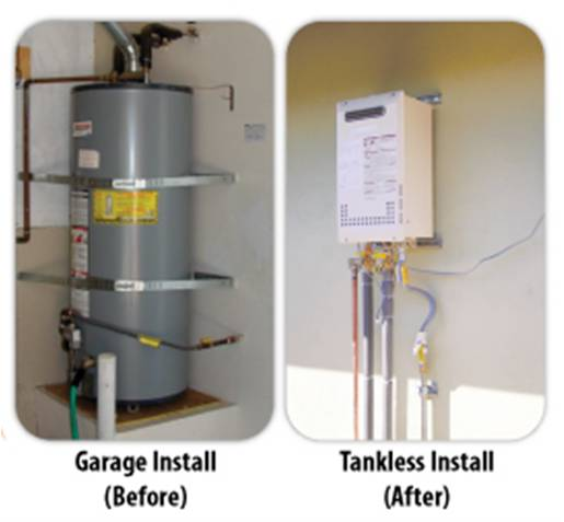 Tankless is a neater, smaller,  greener, more economical option.