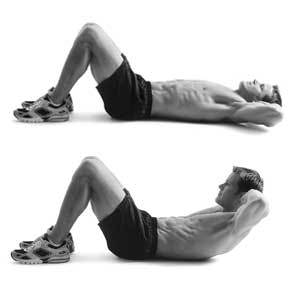 crunches, how to do crunches, how to exercise